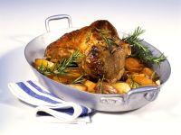 Lammkeule mit Kartoffeln Rezept