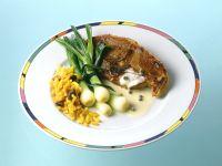 Lammkoteletts mit Frühlingszwiebeln und Curryreis Rezept