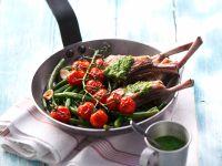 Lammkoteletts mit Grilltomaten Rezept