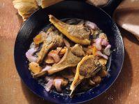 Lammkoteletts mit Rhabarber-Möhrengemüse Rezept