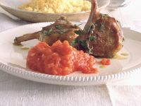 Lammkoteletts mit scharfem Tomatenpüree Rezept