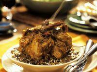 Lammschulter-Curry auf Reis