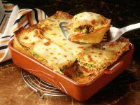 Lasagne mit Hackfleisch und Erbsen Rezept