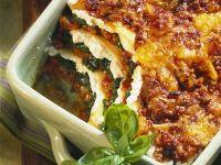 Lasagne mit Ricotta und Spinat Rezept