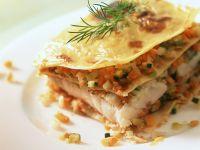 Lasagne mit Seeteufel und Gemüse Rezept