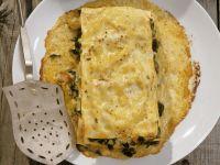 Lasagne mit Shrimps, Calamari und Spinat Rezept