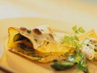 Lasagnetaschen mit Lachsforelle Rezept