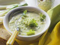Lauch-Frischkäse-Suppe Rezept