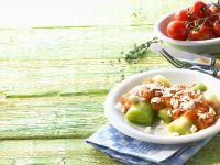 Lauch mit Tomatensauce Rezept