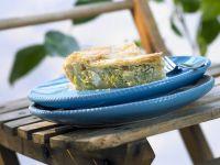 Lauchkuchen mit Feta auf griechische Art Rezept
