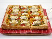 Lauchkuchen mit Paprika und Ziegenkäse Rezept