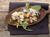 Lauwarmer Meeresfrüchtesalat Rezept