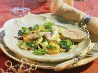 Lauwarmer Porree-Orangen-Salat mit Zander Rezept