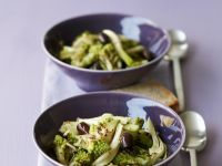 Lauwarmer Romanesco-Fenchel-Salat
