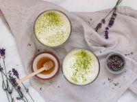 Lavendel Matcha Latte Rezept