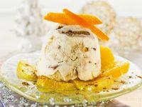 Lebkuchenparfait auf Orangenspiegel Rezept