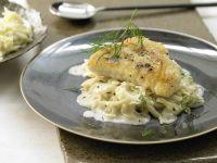 Lengfisch auf Kümmel-Spitzkohl Rezept