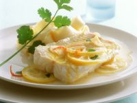 Lengfischfilet mit Zitronensauce Rezept