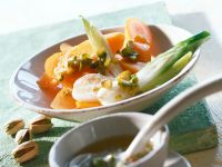 Limetten-Pistazien-Butter zu Gemüse Rezept