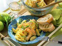 Limetten-Spaghetti mit Shrimps Rezept