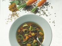 Linsen-Curry-Suppe Rezept