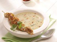 Linsen-Currysuppe mit Red-Snapper-Spieß Rezept