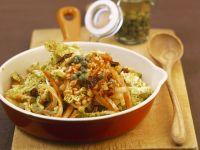 Linsen-Gemüse-Pfanne und Kapern Rezept