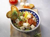 Linsen-Gemüse-Salat mit Kresse und Ziegenkäse Rezept