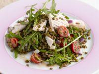 Linsen-Hähnchen-Salat mit Rucola Rezept