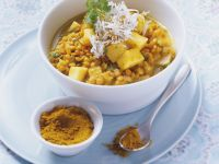 Linsen-Mango-Curry Rezept