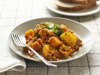 Linsencurry mit Kartoffeln Rezept