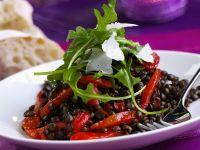 Linsensalat mit Paprika und Rucola Rezept