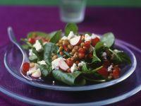Linsensalat mit Spinat Rezept