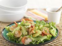 Lollo Biondo mit Gambas und Salatgurke Rezept