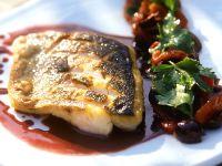 Loup de mer mit Rotweinsauce Rezept