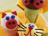 Lustige Tier-Eistüten