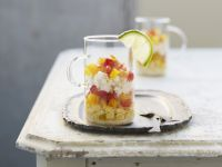 Mais-Paprika-Salat mit Krabbenfleisch