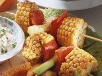 Mais-Paprika-Spieße Rezept