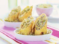 Maistortilla mit jungen Sprossen Rezept