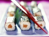 Maki-Sushi mit Lachs Rezept