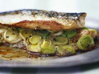 Makrele mit französischem Senf und Porree Rezept