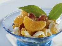 Mandarinen und Trauben mit Quarksoße Rezept