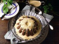 Mandelpudding mit Brandysauce Rezept