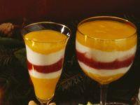 Mango-Joghurt-Himbeerbecher