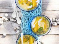 Mangocreme mit Maracuja Rezept