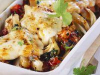 Magold-Tomaten-Gratin mit Speck und Mozzarella
