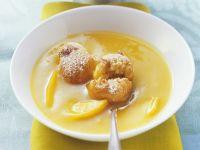 Mangosuppe mit knusprigen Reisbällchen Rezept
