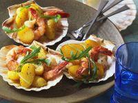 Marinierte Garnelen und Kartoffeln Rezept