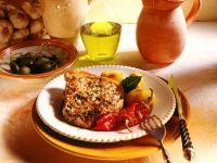 Marinierte Koteletts mit Spitzpaprika und gebratenen Lorbeerkartoffeln Rezept