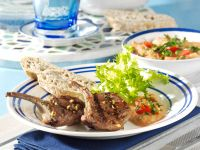 Marinierte Lammkoteletts mit Tomaten-Pfeffer-Dip Rezept